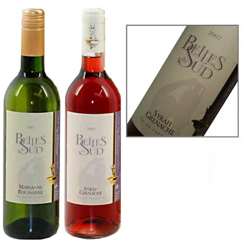 Belles du Sud wijn duo rosé en wit